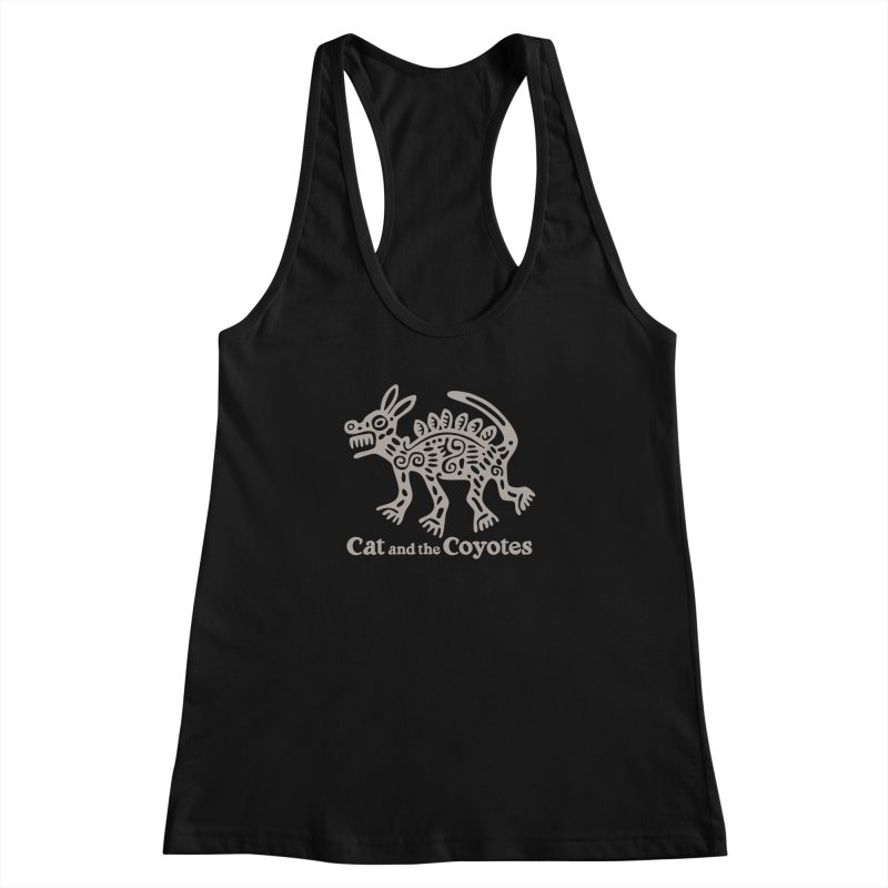 Cat and the Coyotes Coyote Azteca 2nd Colorway Women's Racerback Tank by Magic Inkwell