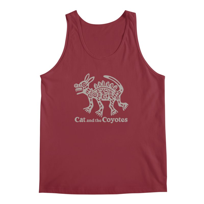 Cat and the Coyotes Coyote Azteca 2nd Colorway Men's Regular Tank by Magic Inkwell