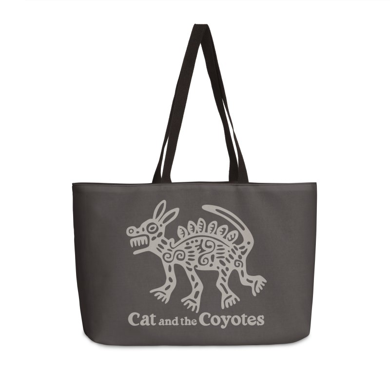 Cat and the Coyotes Coyote Azteca 2nd Colorway Accessories Weekender Bag Bag by Magic Inkwell