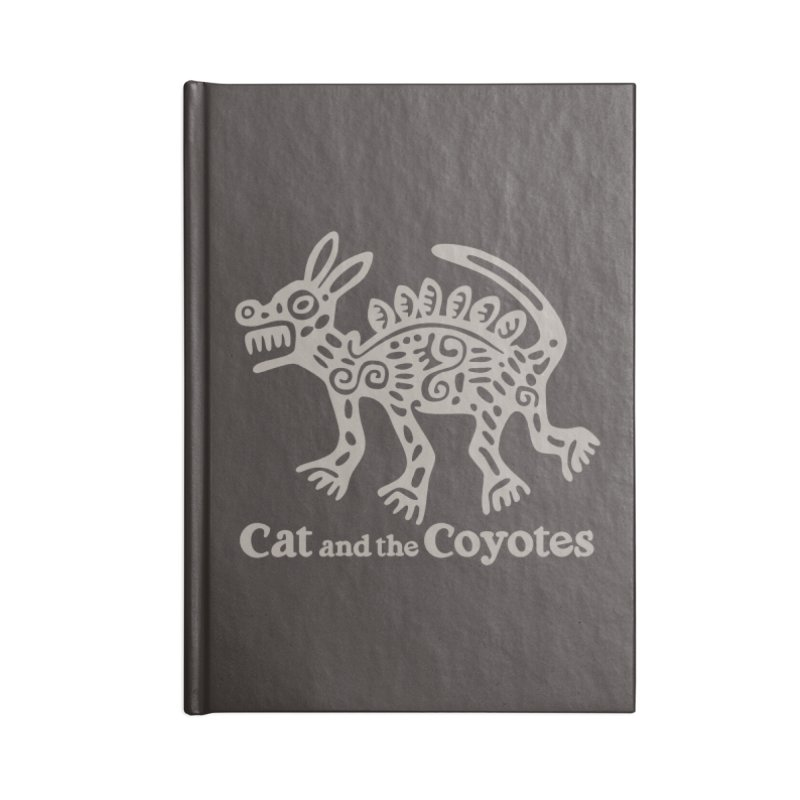Cat and the Coyotes Coyote Azteca 2nd Colorway Accessories Lined Journal Notebook by Magic Inkwell