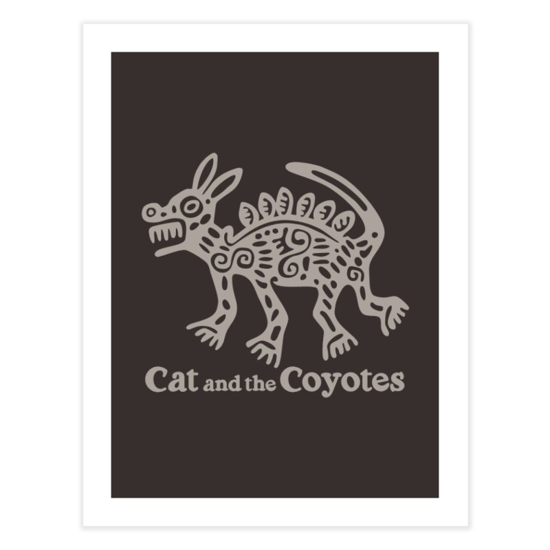 Cat and the Coyotes Coyote Azteca 2nd Colorway Home Fine Art Print by Magic Inkwell