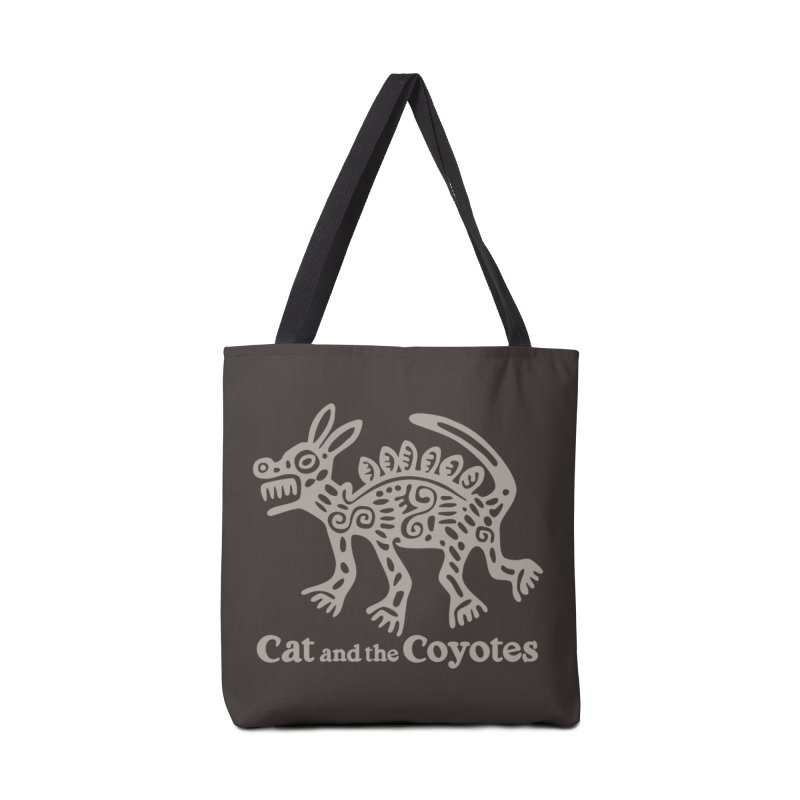Cat and the Coyotes Coyote Azteca 2nd Colorway Accessories Tote Bag Bag by Magic Inkwell