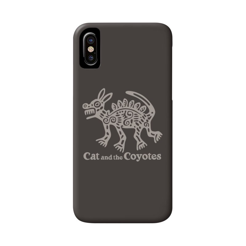 Cat and the Coyotes Coyote Azteca 2nd Colorway Accessories Phone Case by Magic Inkwell