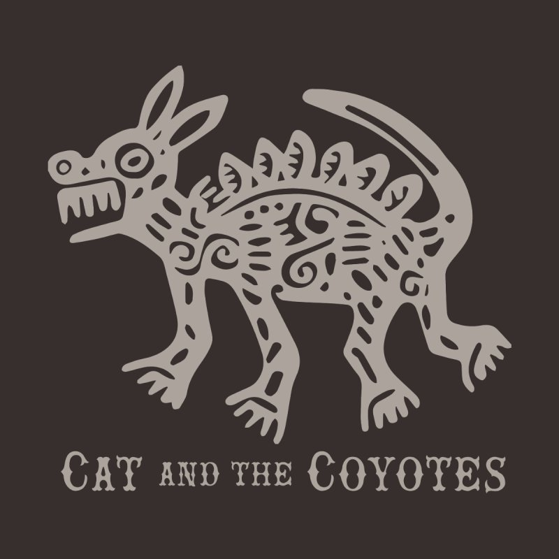Cat and the Coyotes Coyote Azteca 2nd Colorway Women's T-Shirt by Magic Inkwell