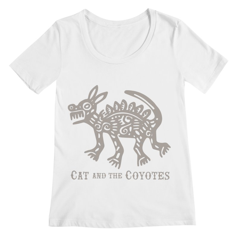 Cat and the Coyotes Coyote Azteca 2nd Colorway Women's Regular Scoop Neck by Magic Inkwell