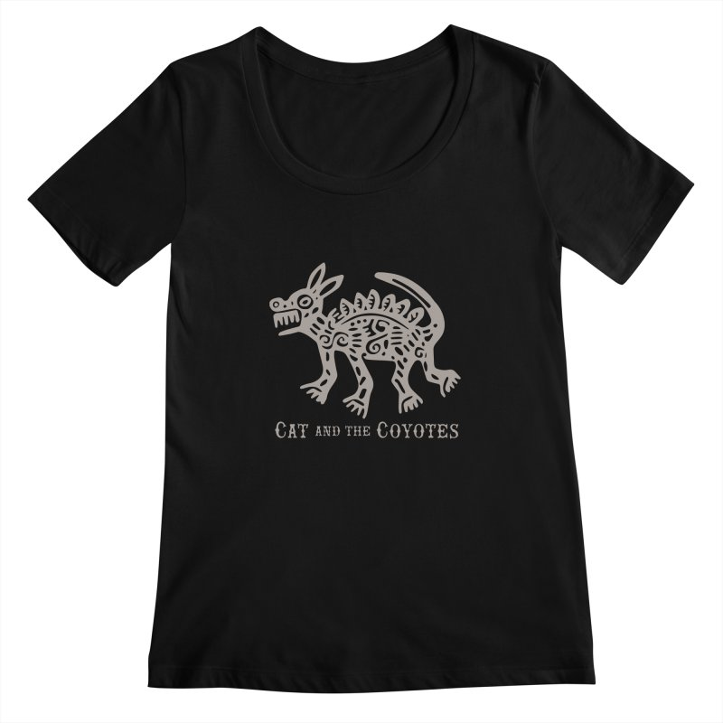 Cat and the Coyotes Coyote Azteca 2nd Colorway Women's Scoopneck by Magic Inkwell