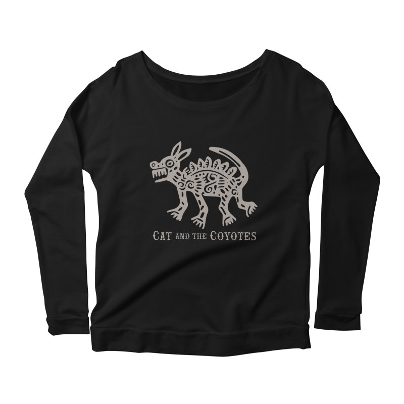 Cat and the Coyotes Coyote Azteca 2nd Colorway Women's Longsleeve Scoopneck  by Magic Inkwell
