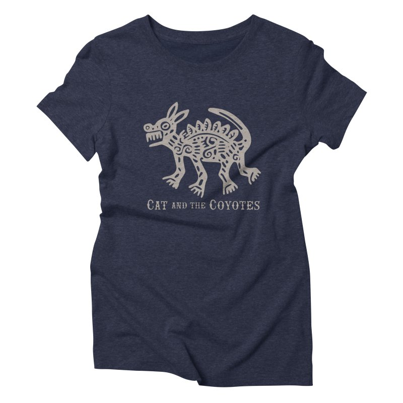 Cat and the Coyotes Coyote Azteca 2nd Colorway Women's Triblend T-shirt by Magic Inkwell