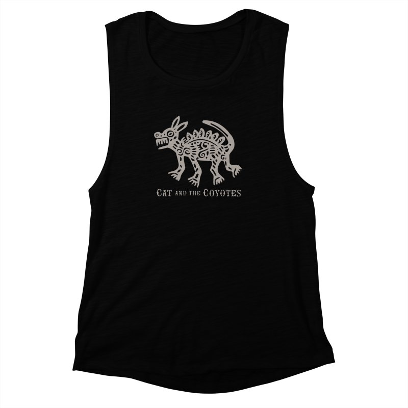 Cat and the Coyotes Coyote Azteca 2nd Colorway Women's Muscle Tank by Magic Inkwell