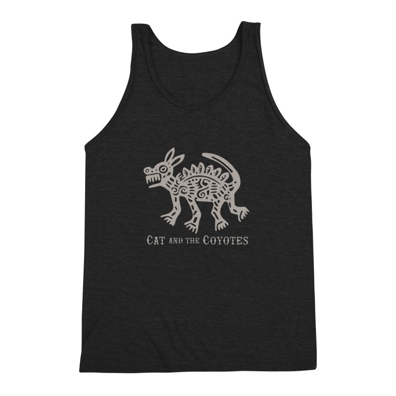 Cat and the Coyotes Coyote Azteca 2nd Colorway Men's Triblend Tank by Magic Inkwell