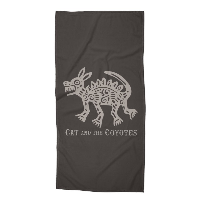 Cat and the Coyotes Coyote Azteca 2nd Colorway Accessories Beach Towel by Magic Inkwell