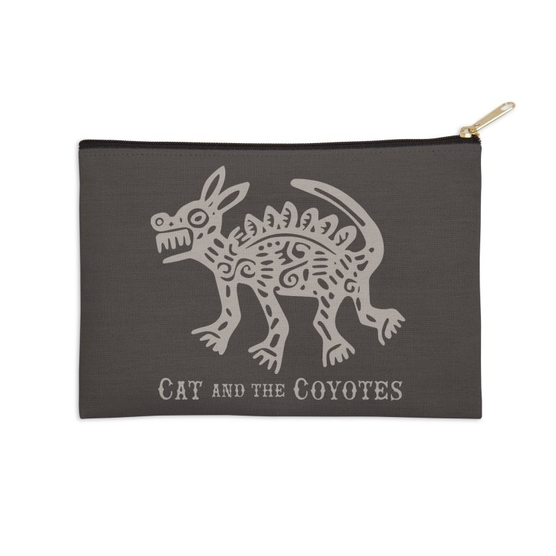 Cat and the Coyotes Coyote Azteca 2nd Colorway Accessories Zip Pouch by Magic Inkwell