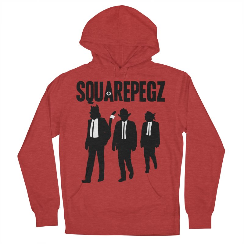 Squarepegz Reservoir Pegz Tee Women's French Terry Pullover Hoody by Magic Inkwell