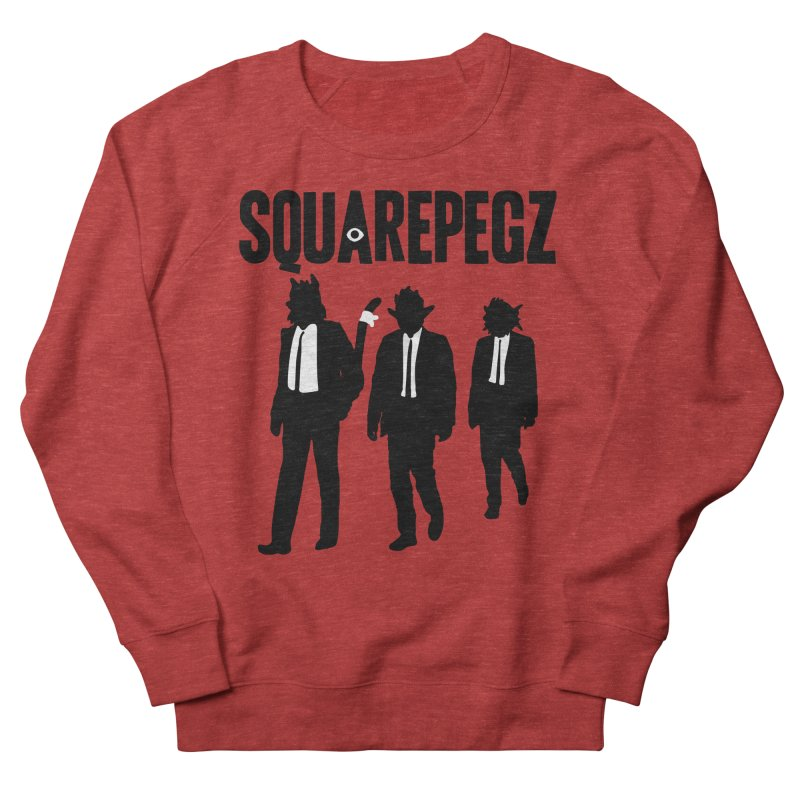 Squarepegz Reservoir Pegz Tee Women's French Terry Sweatshirt by Magic Inkwell