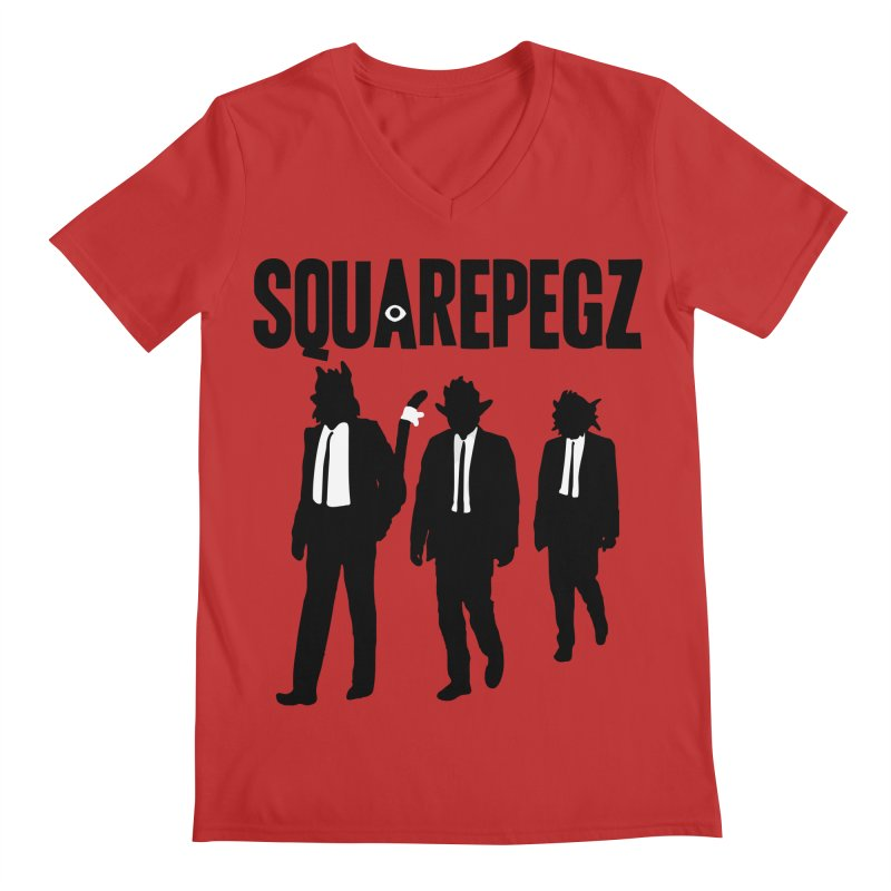 Squarepegz Reservoir Pegz Tee Men's Regular V-Neck by Magic Inkwell