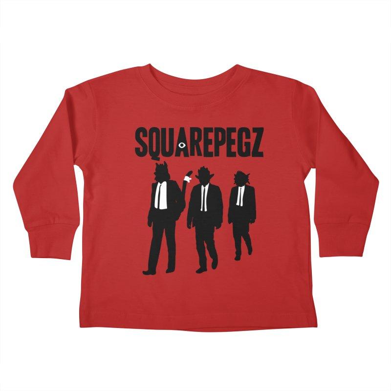 Squarepegz Reservoir Pegz Tee Kids Toddler Longsleeve T-Shirt by Magic Inkwell