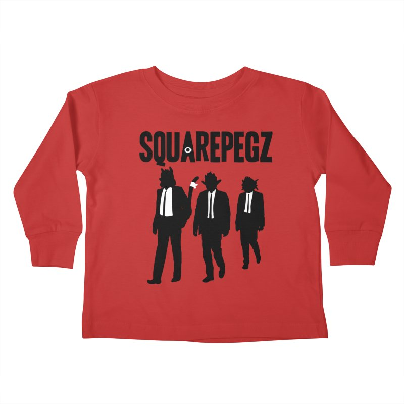 Squarepegz Reservoir Pegz Tee Kids Toddler Longsleeve T-Shirt by Magic Inkwell