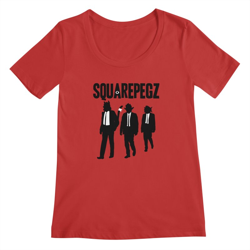 Squarepegz Reservoir Pegz Tee Women's Regular Scoop Neck by Magic Inkwell