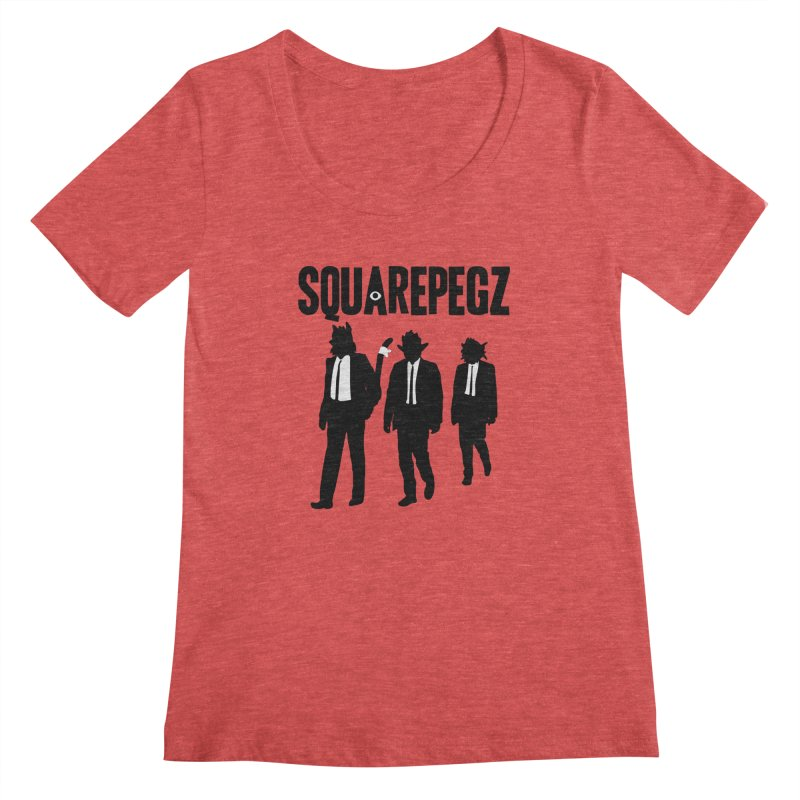 Squarepegz Reservoir Pegz Tee Women's Scoopneck by Magic Inkwell