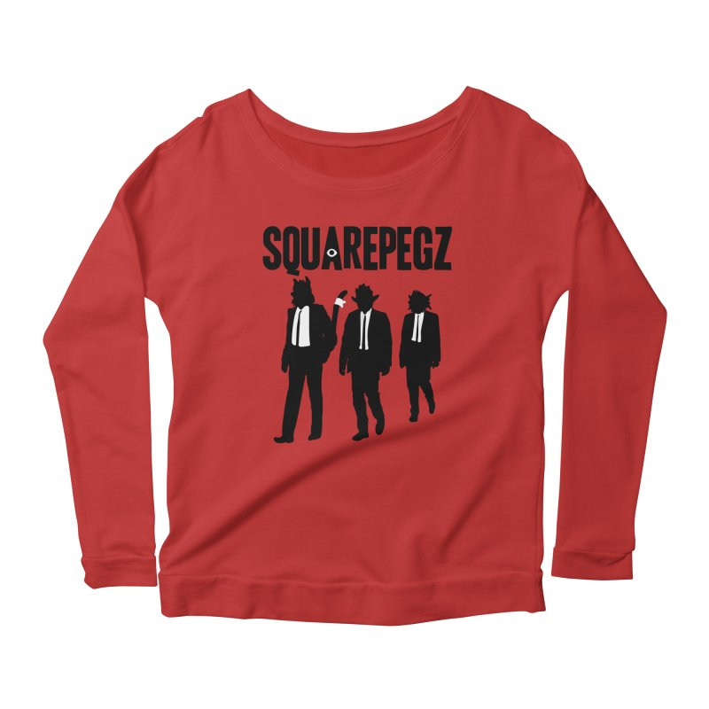 Squarepegz Reservoir Pegz Tee Women's Scoop Neck Longsleeve T-Shirt by Magic Inkwell