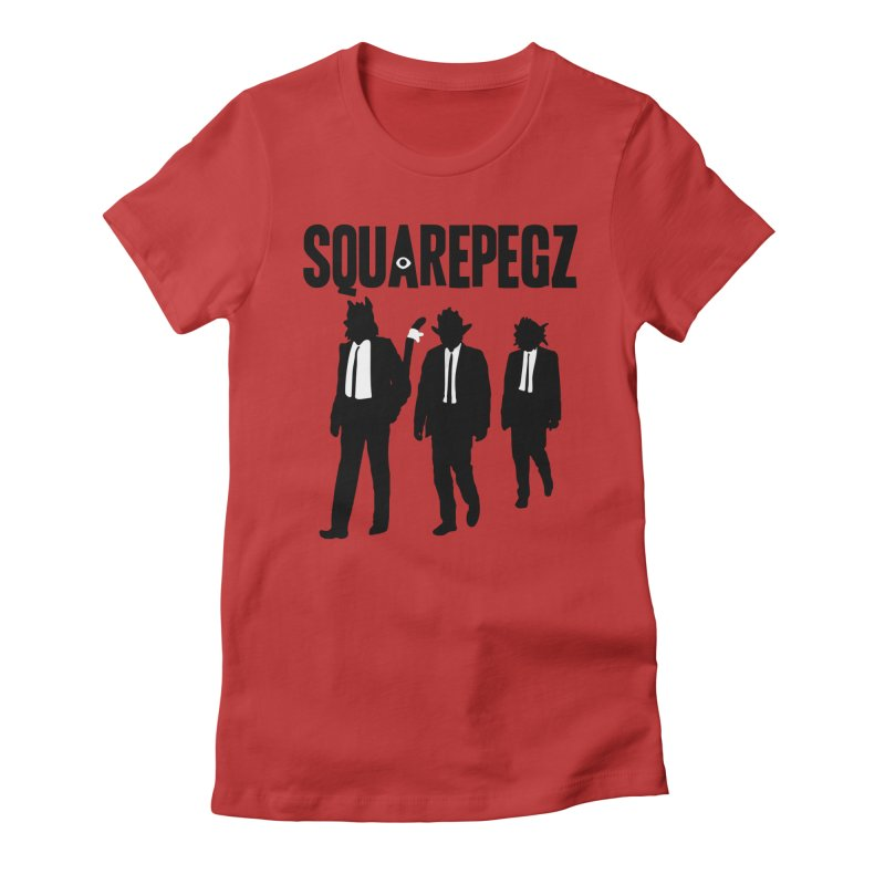 Squarepegz Reservoir Pegz Tee Women's Fitted T-Shirt by Magic Inkwell