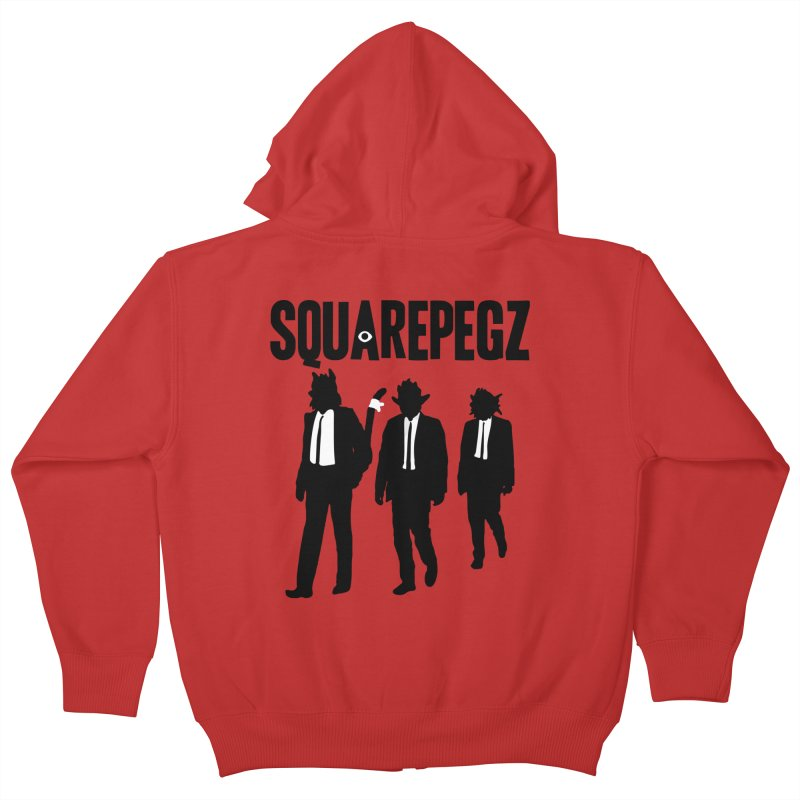 Squarepegz Reservoir Pegz Tee Kids Zip-Up Hoody by Magic Inkwell