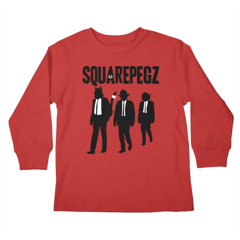 Squarepegz Reservoir Pegz Tee Kids Longsleeve T-Shirt by Magic Inkwell
