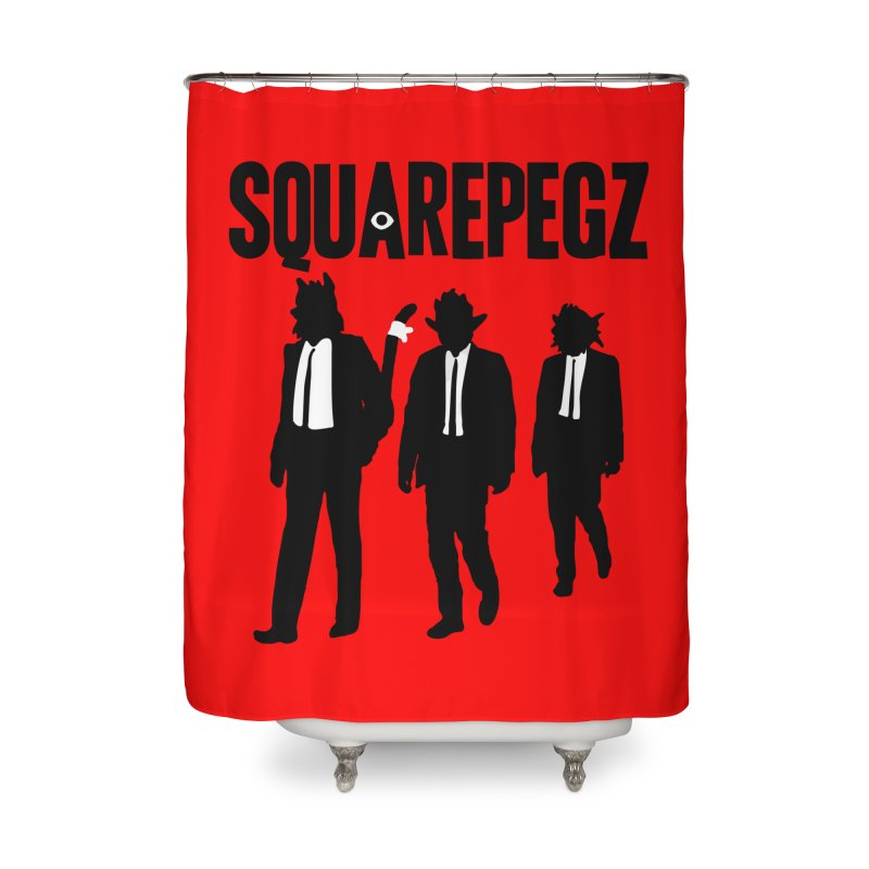Squarepegz Reservoir Pegz Tee Home Shower Curtain by Magic Inkwell