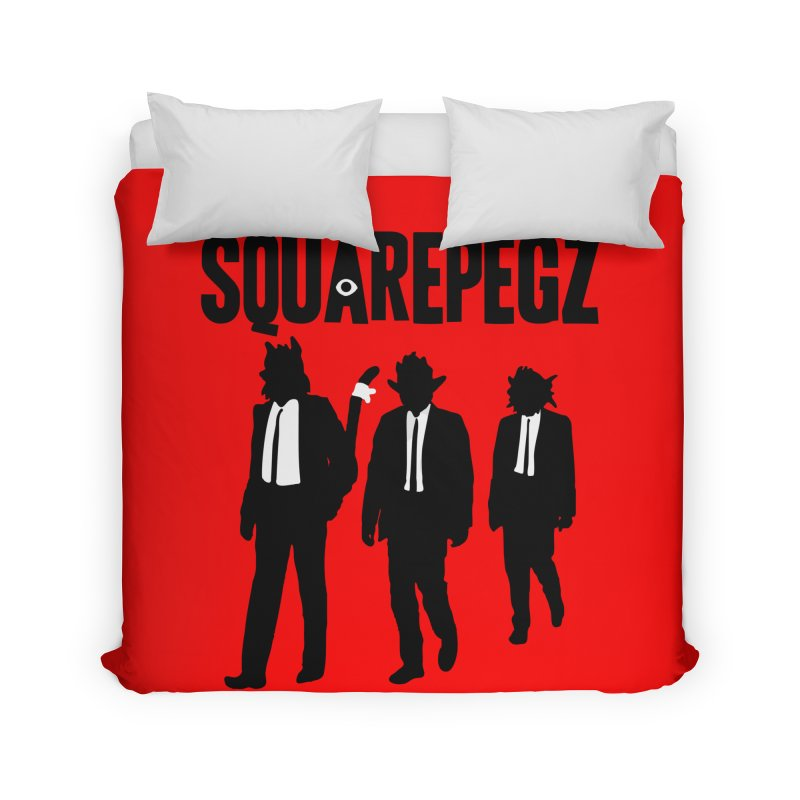Squarepegz Reservoir Pegz Tee Home Duvet by Magic Inkwell