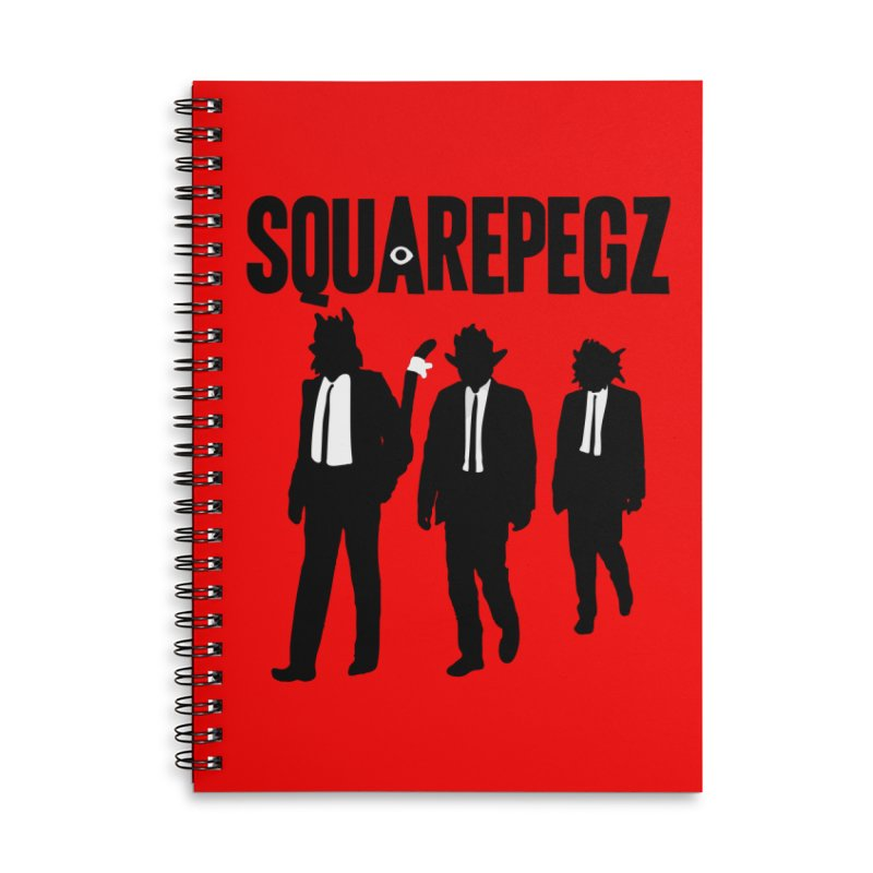Squarepegz Reservoir Pegz Tee Accessories Lined Spiral Notebook by Magic Inkwell