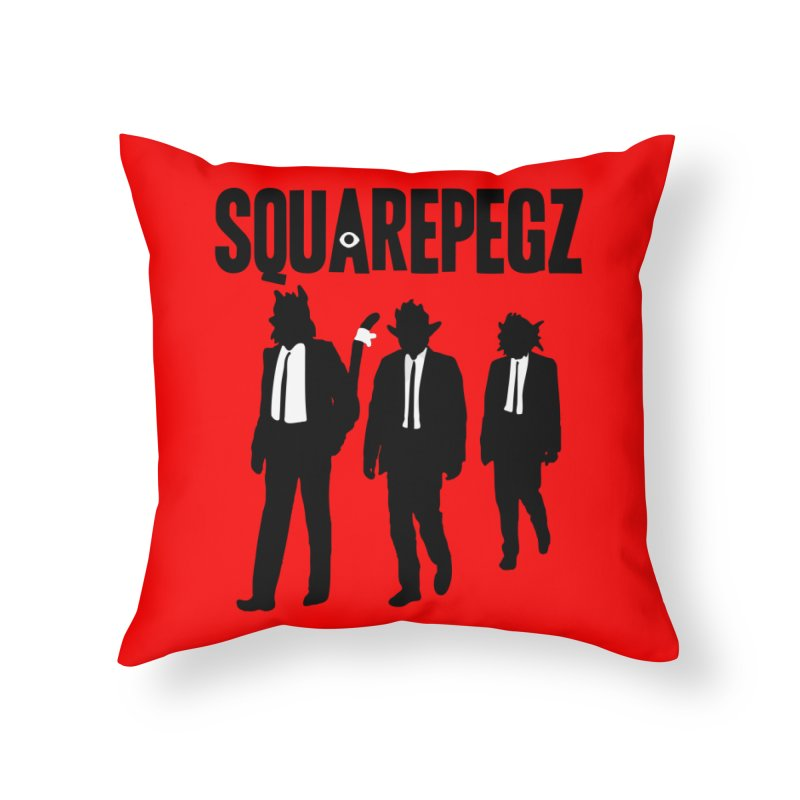 Squarepegz Reservoir Pegz Tee Home Throw Pillow by Magic Inkwell