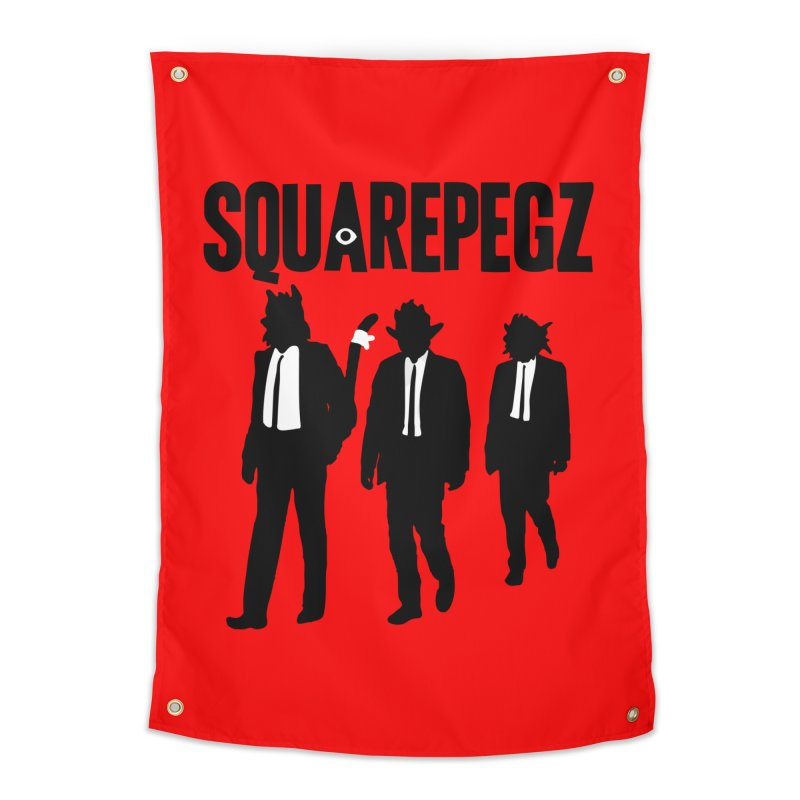 Squarepegz Reservoir Pegz Tee Home Tapestry by Magic Inkwell