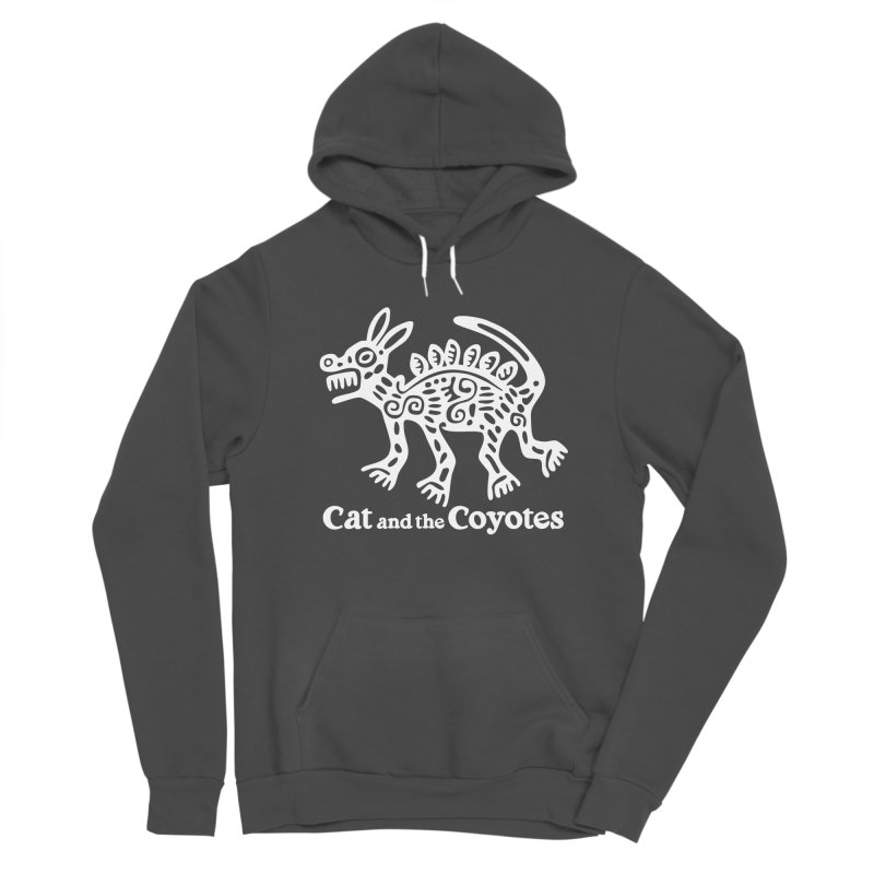 Azteca Dog Black and White Women's Sponge Fleece Pullover Hoody by Magic Inkwell