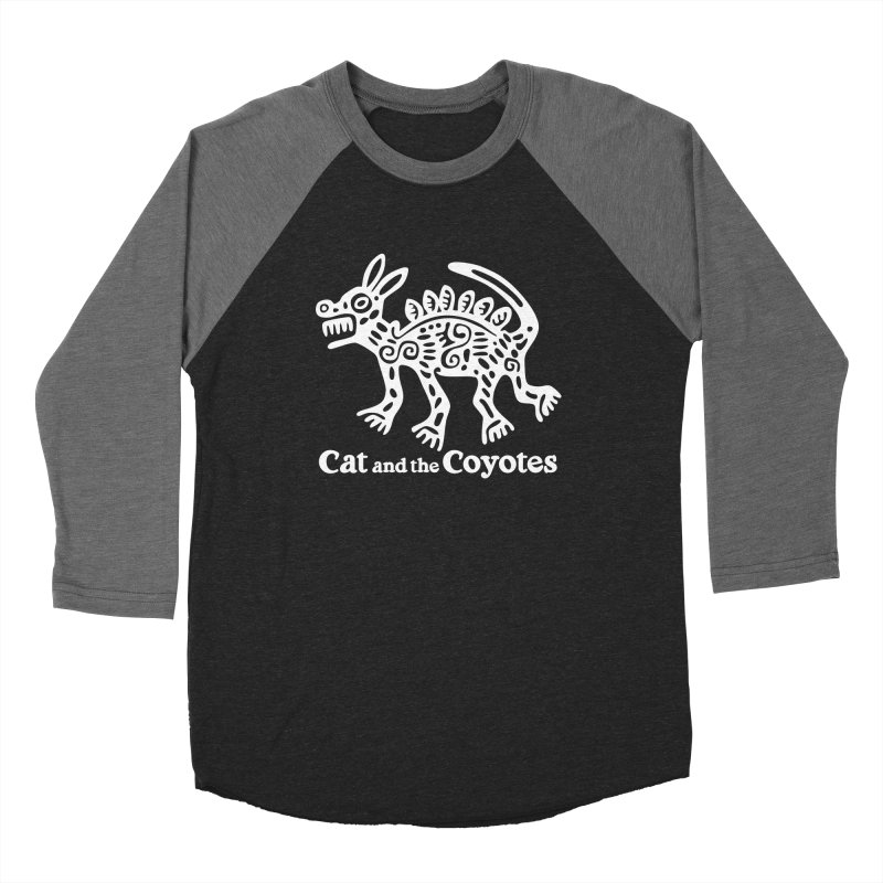 Azteca Dog Black and White Men's Baseball Triblend Longsleeve T-Shirt by Magic Inkwell