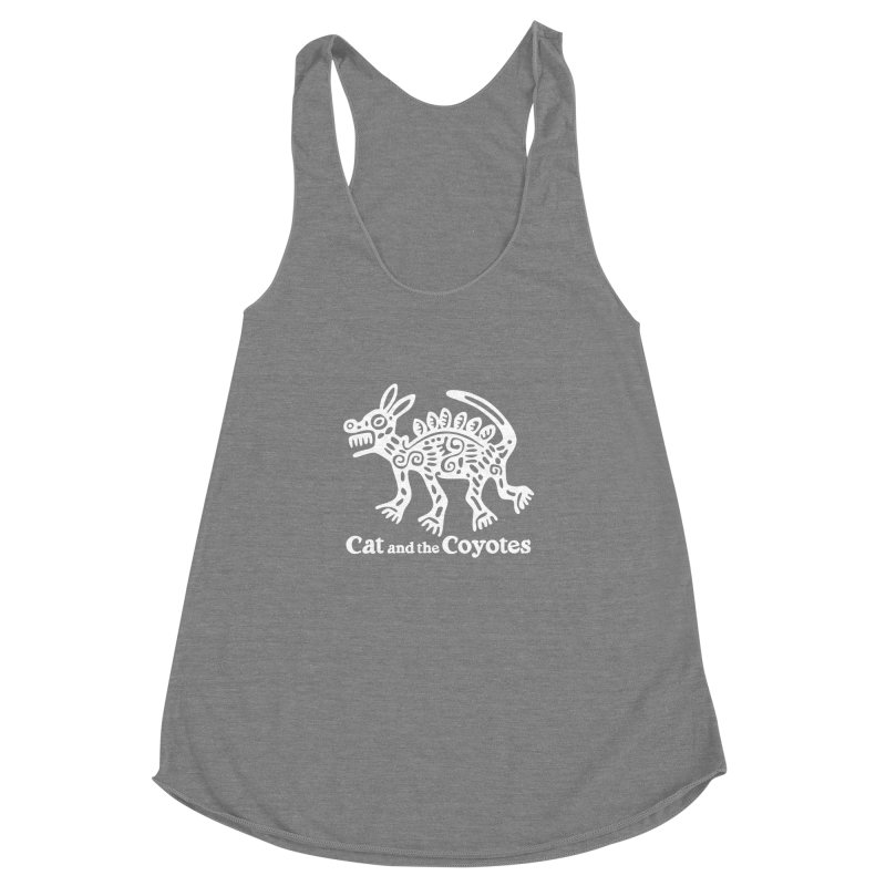Azteca Dog Black and White Women's Racerback Triblend Tank by Magic Inkwell