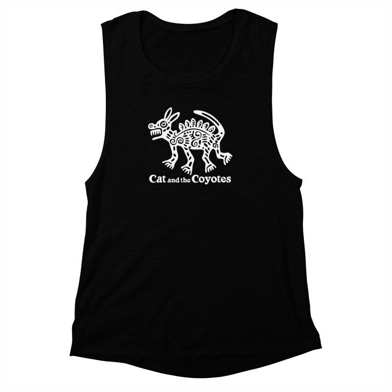 Azteca Dog Black and White Women's Muscle Tank by Magic Inkwell