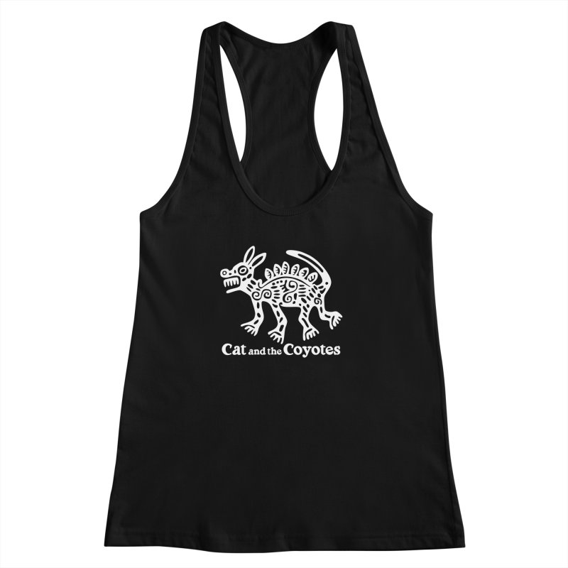 Azteca Dog Black and White Women's Racerback Tank by Magic Inkwell