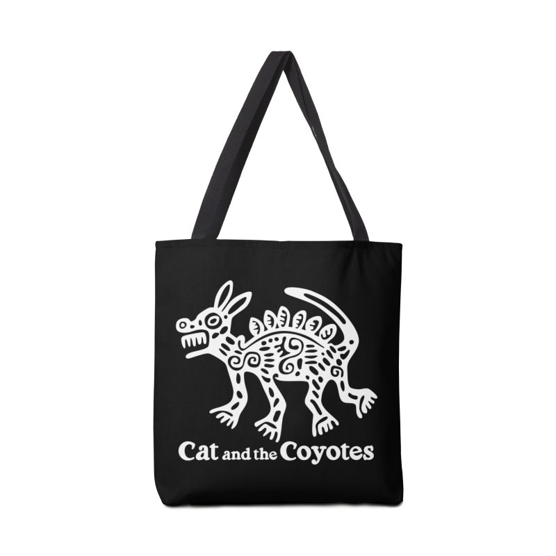 Azteca Dog Black and White Accessories Tote Bag Bag by Magic Inkwell