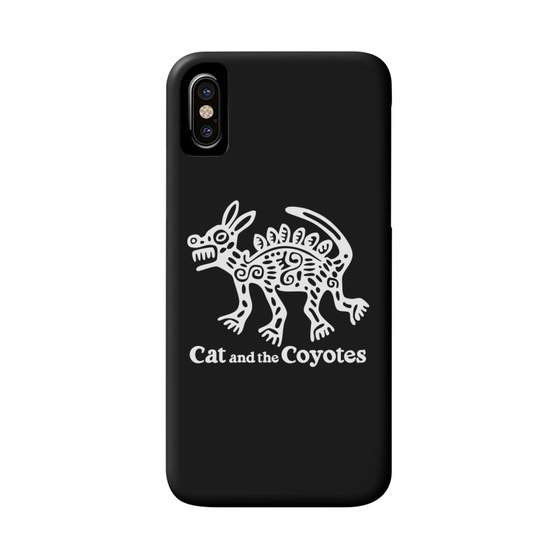 Azteca Dog Black and White Accessories Phone Case by Magic Inkwell