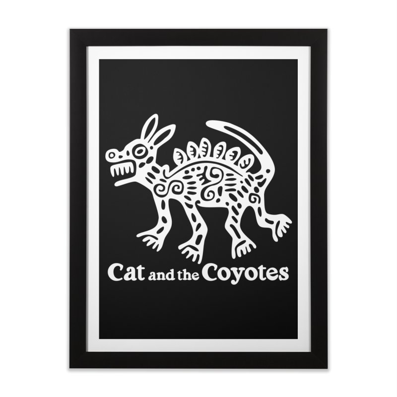Azteca Dog Black and White Home Framed Fine Art Print by Magic Inkwell