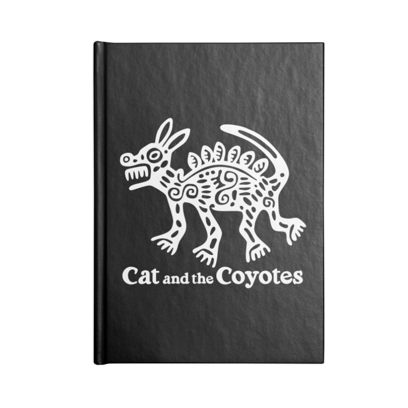 Azteca Dog Black and White Accessories Lined Journal Notebook by Magic Inkwell
