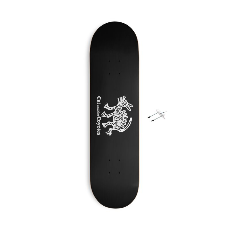 Azteca Dog Black and White Accessories With Hanging Hardware Skateboard by Magic Inkwell