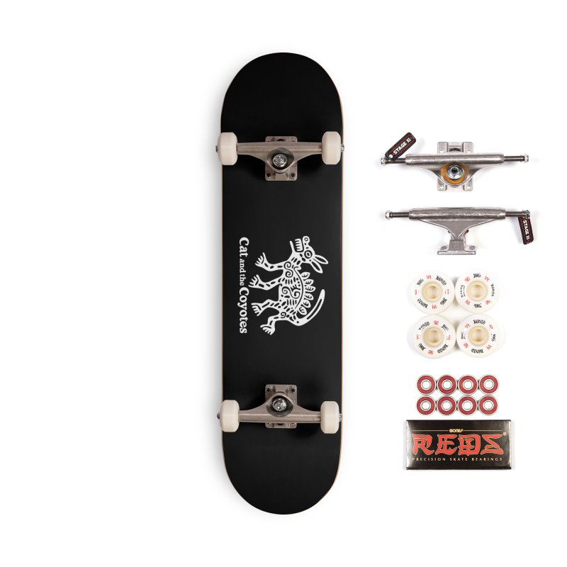 Azteca Dog Black and White Accessories Complete - Pro Skateboard by Magic Inkwell