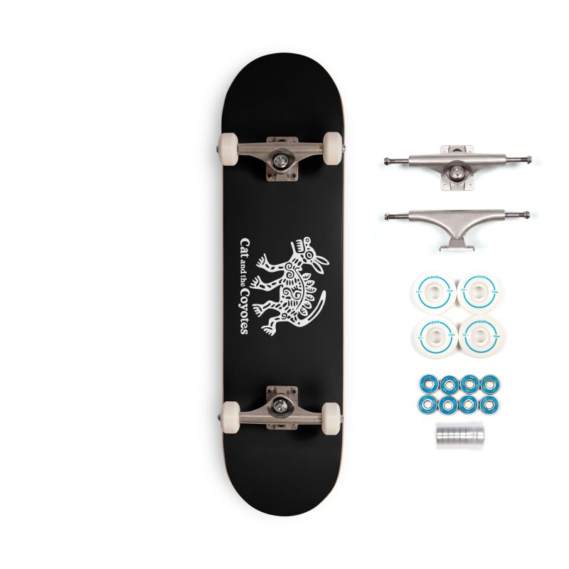 Azteca Dog Black and White Accessories Complete - Basic Skateboard by Magic Inkwell