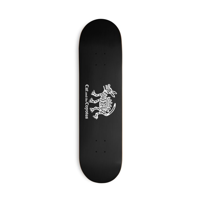 Azteca Dog Black and White Accessories Deck Only Skateboard by Magic Inkwell