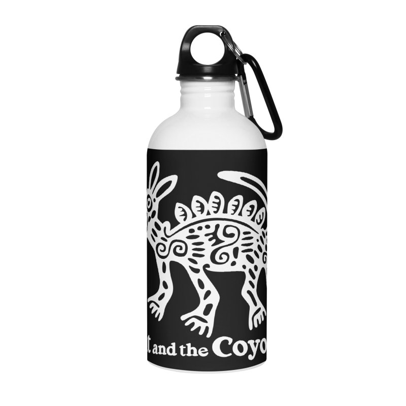 Azteca Dog Black and White Accessories Water Bottle by Magic Inkwell