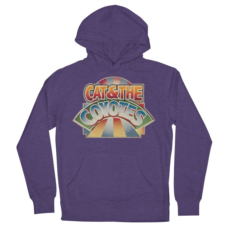 Traveling Coyotes Women's French Terry Pullover Hoody by Magic Inkwell