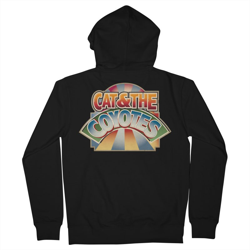 Traveling Coyotes Men's French Terry Zip-Up Hoody by Magic Inkwell
