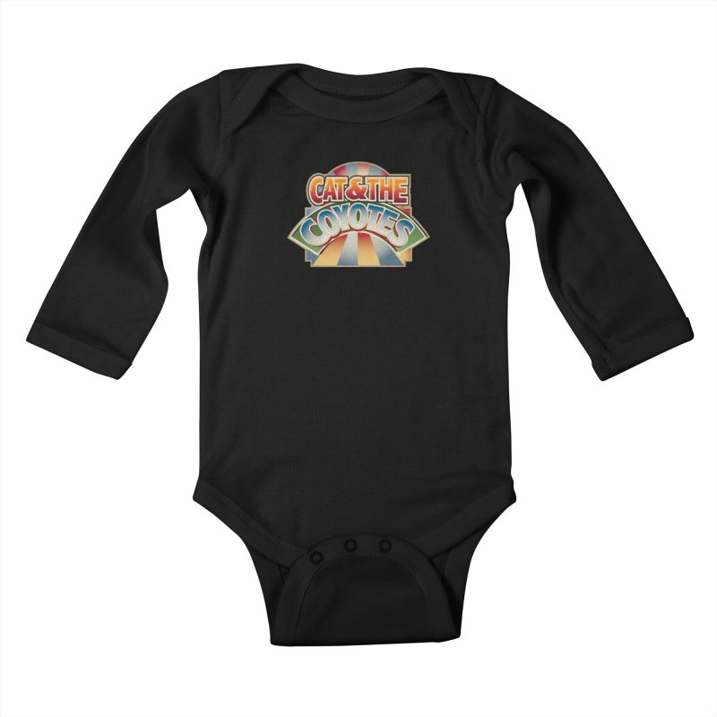 Traveling Coyotes Kids Baby Longsleeve Bodysuit by Magic Inkwell