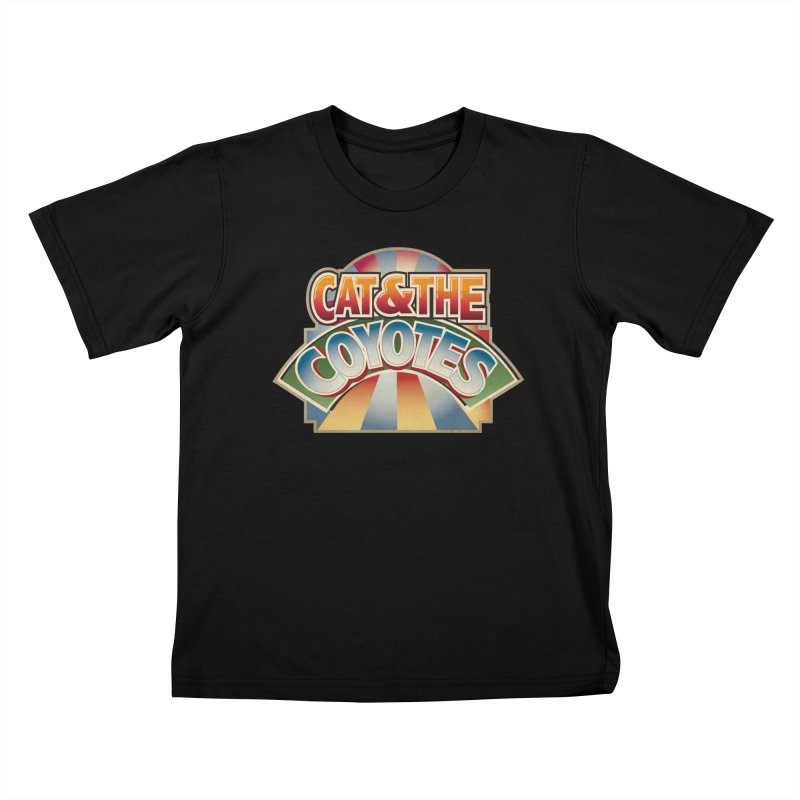 Traveling Coyotes Kids T-Shirt by Magic Inkwell
